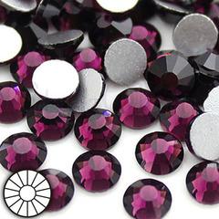Стразы холодной фиксации клеевые стеклянные Amethyst фиолетовый на StrazOK.ru