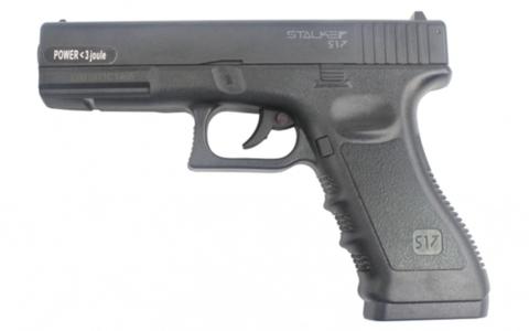 Пневматический пистолет Stalker S17 (Glock17)  пластик, черный 4,5 мм