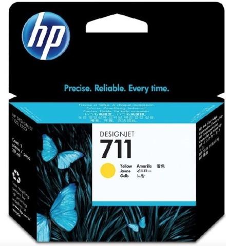 Оригинальный картридж струйный HP CZ132A 711 желтый