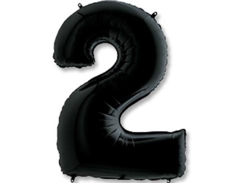 Цифра, 2, Черный (Black), 40''/102 см, 1 шт.