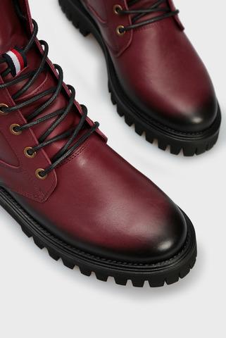 Женские бордовые кожаные ботинки SHADED Tommy Hilfiger