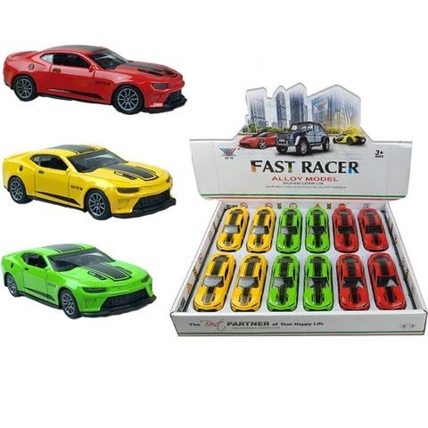 Набор машинок (в ассортименте) FAST RACER DIE CAST METAL гоночный болид № 1, 1кор*24бл*12шт
