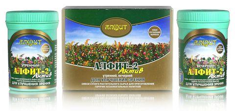 Чай Алфит-Актив № 2 для улучшения зрения, 60 бр. (Гален)