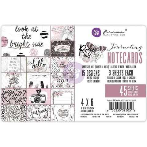 Журнальные карточки Prima- Rose Quartz Journaling Cards 10х15см  -45шт.