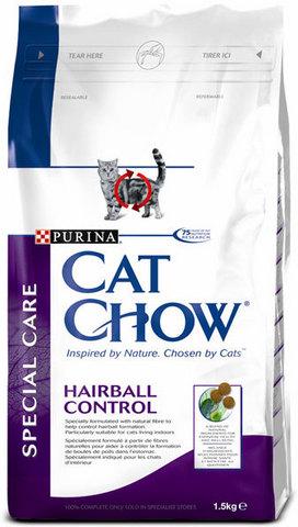 Cat Chow Для выведения шерсти из желудка (special Care Hairball) 15 кг