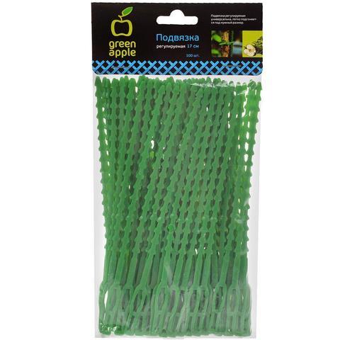 Подвязка регулируемая 13см 100шт Green Apple