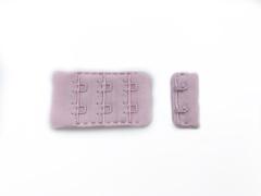 Застежка с крючками розовая бледная 2 ряда
