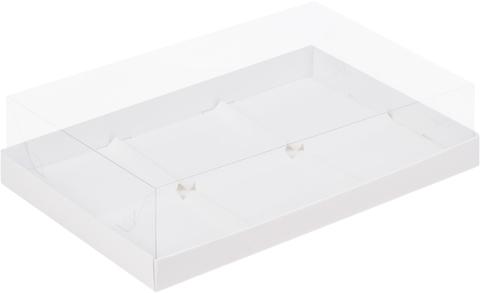 Коробочка под муссовые пирожные, 30*19,5*8см, (белая), 6