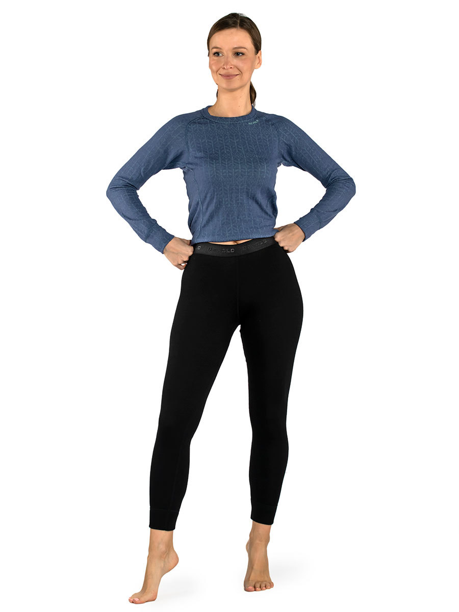 Devold термобелье брюки Duo Active Woman Long Johns Black