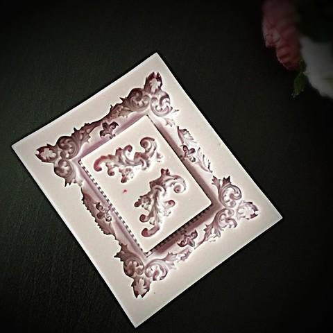 Молд силиконовый РАМКА АЖУРНАЯ и ВЕНЗЕЛЯ (Размер рамки 95*80мм)