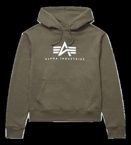 Толстовка Alpha Industries Basic Logo Hoodie (Зеленая)