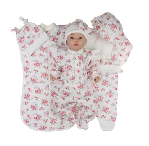 Набор одежды для новорожденной девочки в роддом Розы молочный
