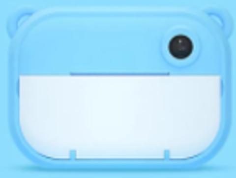 Детский фотоаппарат моментальной печати голубой