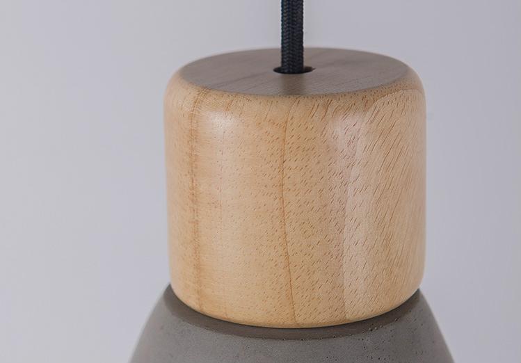 Подвесной светильник Cement Wood by Specimen Editions (серый)
