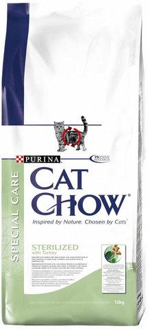 Cat Chow Для кастрированных котов и стерилизованных кошек (special Care - Sterilised) 1,5 кг
