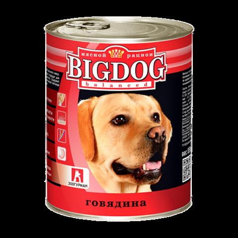 Зоогурман Big dog Консервы для собак с говядиной