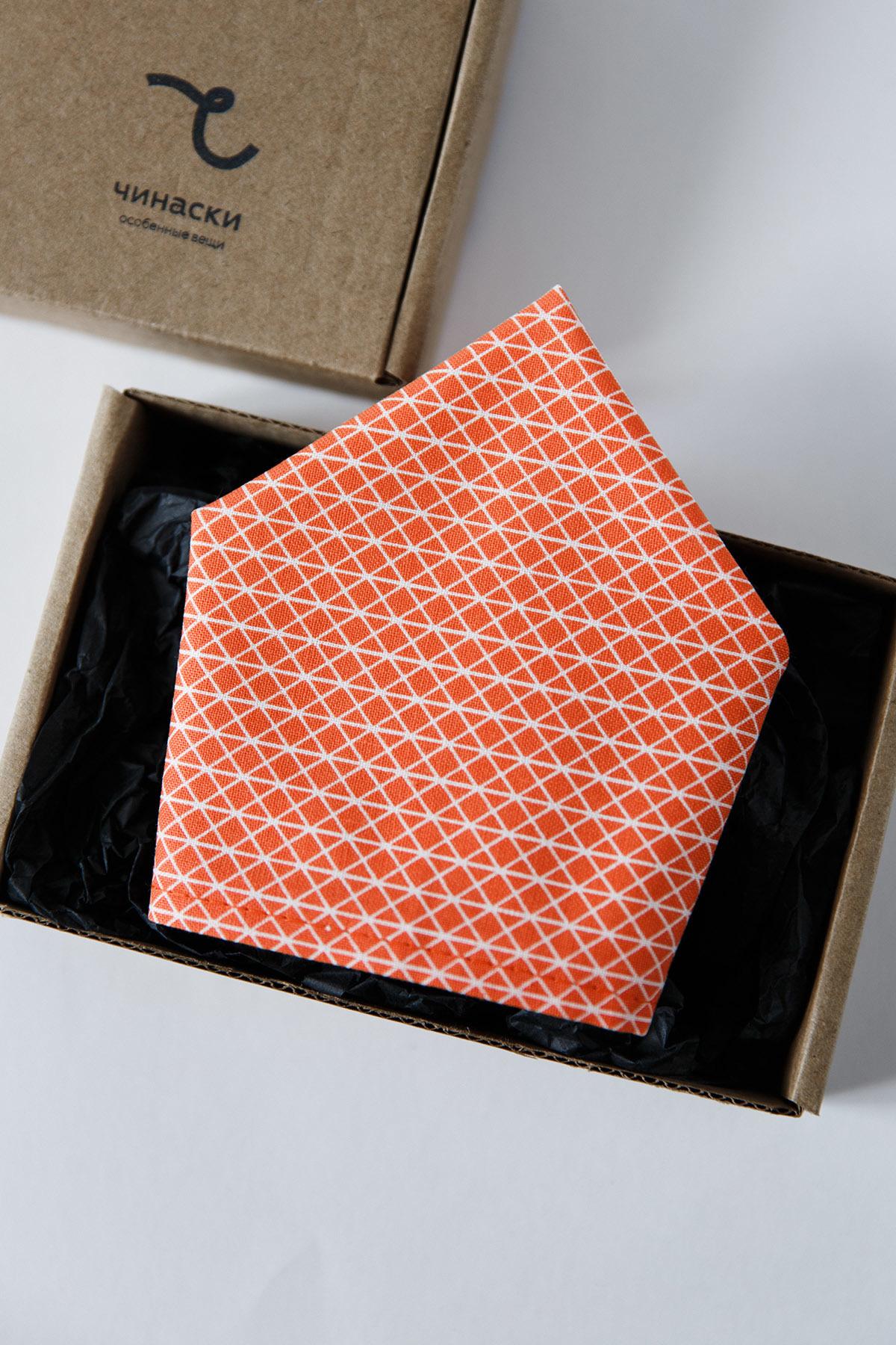 Платок-паше оранжевый узор