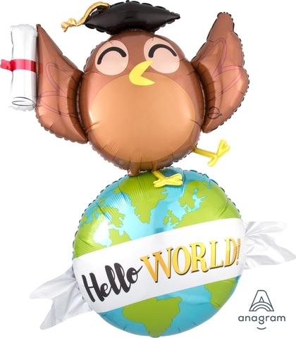 A Шар-фигура Сова Hello World