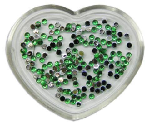 ЭК Стразы акриловые 200шт/ 8   SS4-св.зелёный, круглый