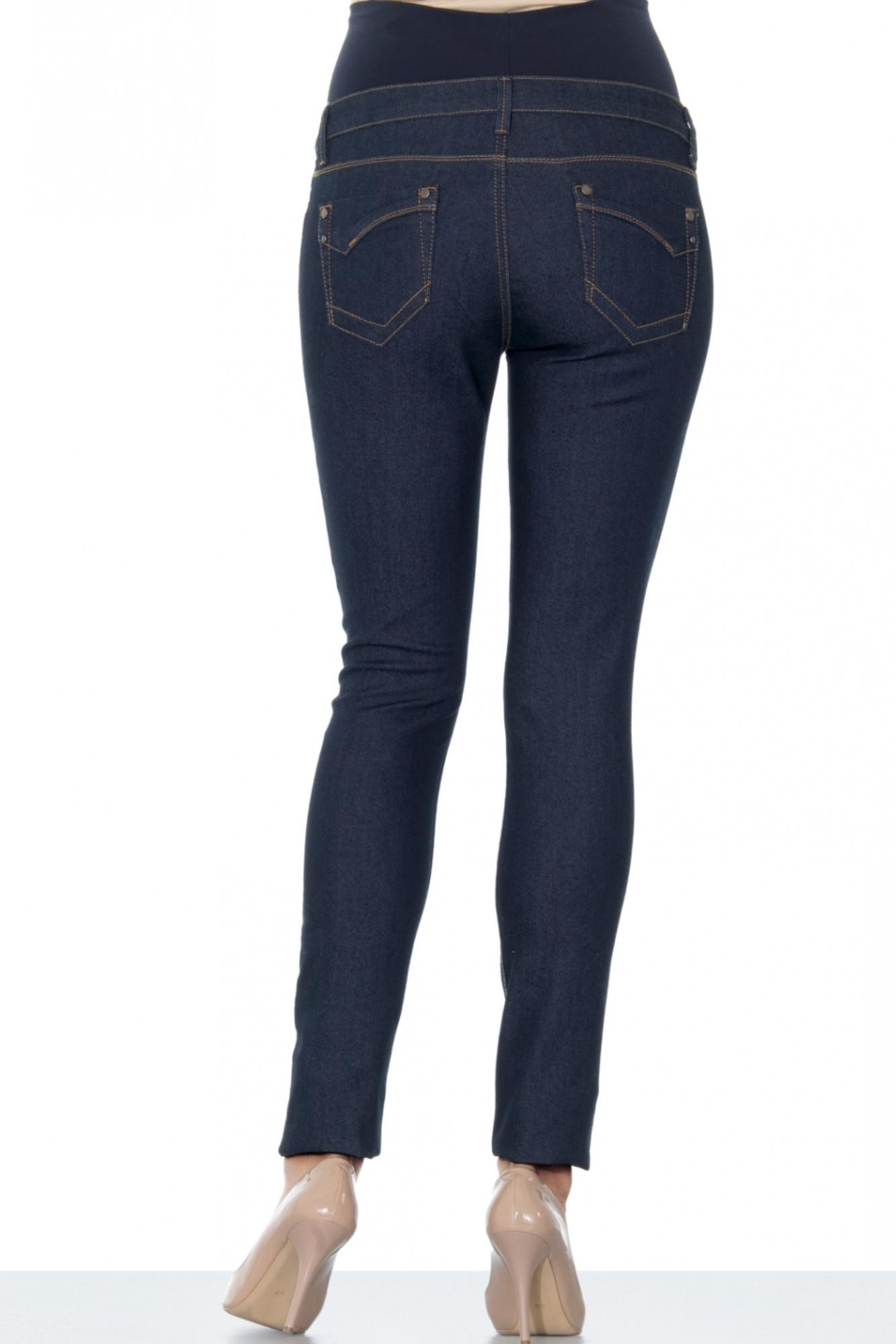 Фото джинсы для беременных EBRU, зауженные, высокая посадка, высокая вставка от магазина СкороМама, синий, размеры.