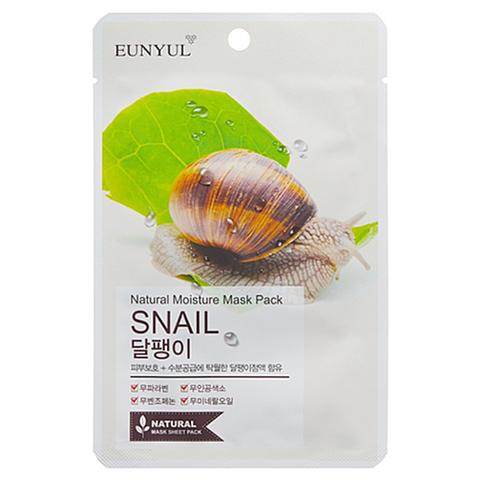 Eunyul Маска тканевая с муцином улитки - Natural moisture mask pack snail, 22мл
