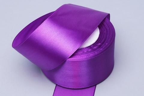 Лента атласная (размер: 50мм х 30м) Цвет:фиолетовая