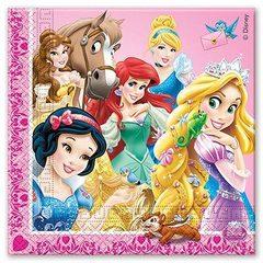 Салфетки Принцессы и зверушки, 16 штук