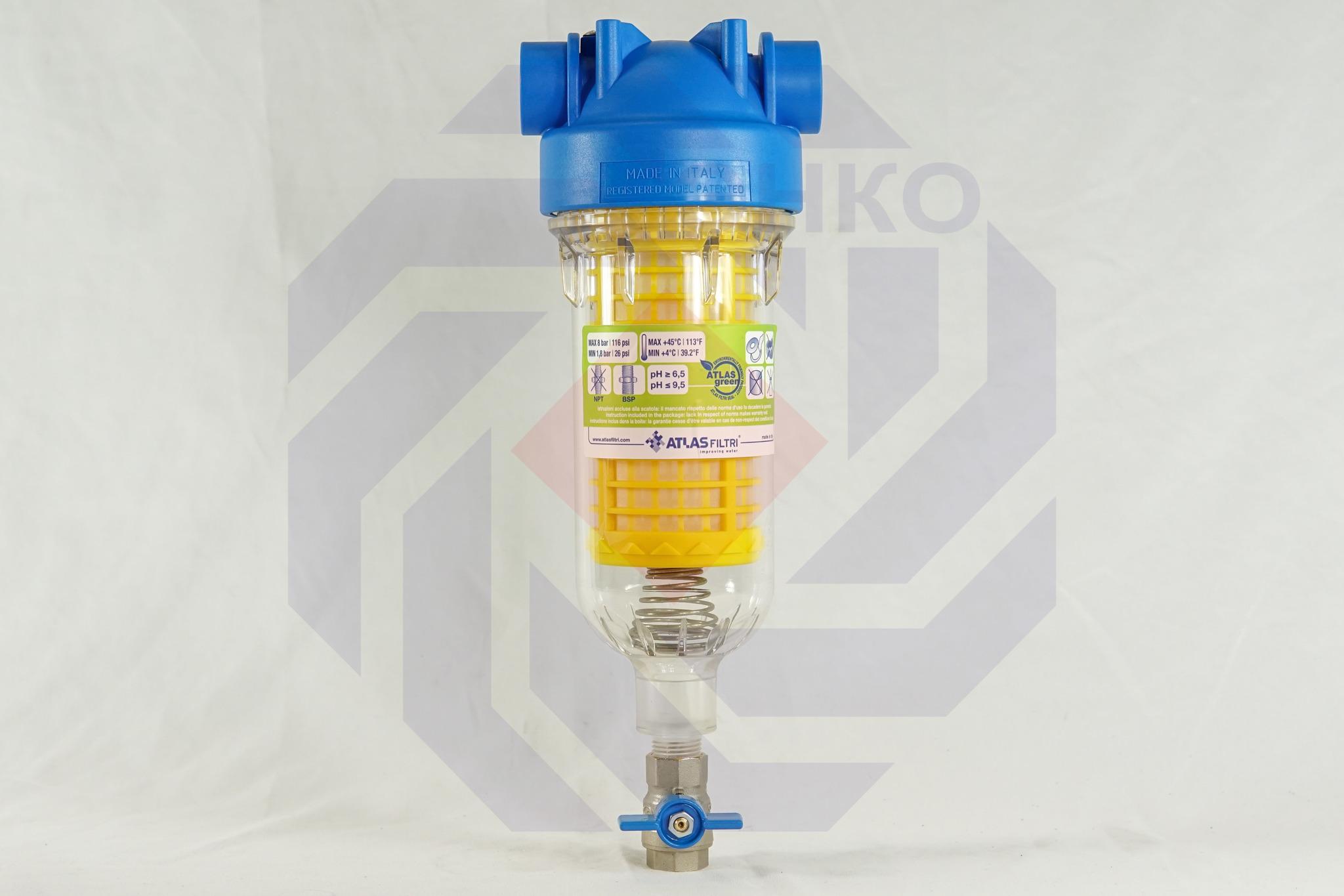 Фильтр для механической очистки самопромывающийся ATLAS HYDRA RLH 90 микрон ¾