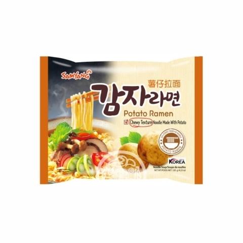Лапша б/п Potato Ramen со вкусом картофеля 120г Samyang Корея