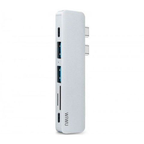 Переходник adapter USB Yype C 7in1Wiwu T8 /gray/