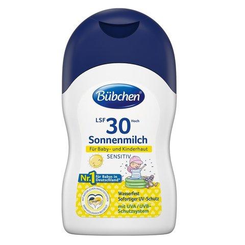 Солнцезащитное молочко для младенцев и детей Bubchen LST 30 150 мл.