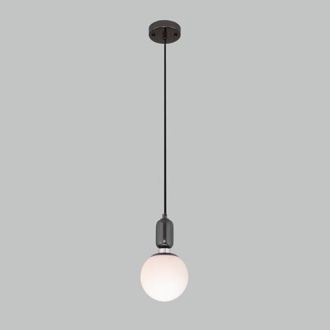 Подвесной светильник со стеклянным плафоном 50151/1 черный жемчуг