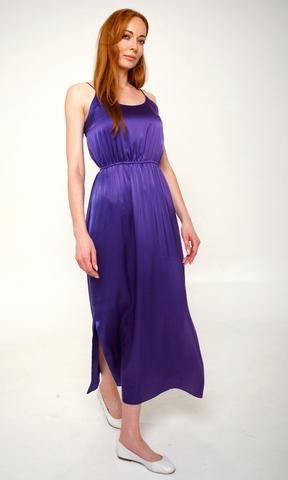 Шелковое платье-сарафан Фиолет