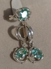 Ньюанс (кольцо + серьги из серебра)