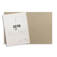 Папка-обложка без скоросшивателя Дело № мелованный картон А4 белая (380 г/кв.м, 10 штук в упаковке)