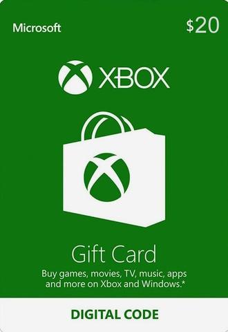 Пополнение бумажника на 20$ (цифровая версия, Xbox Store USA)