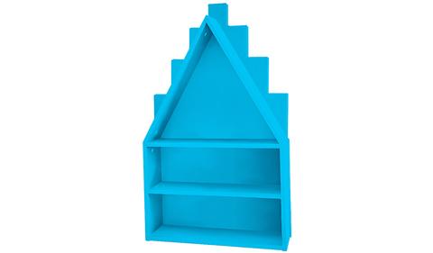 Полка-домик голубая
