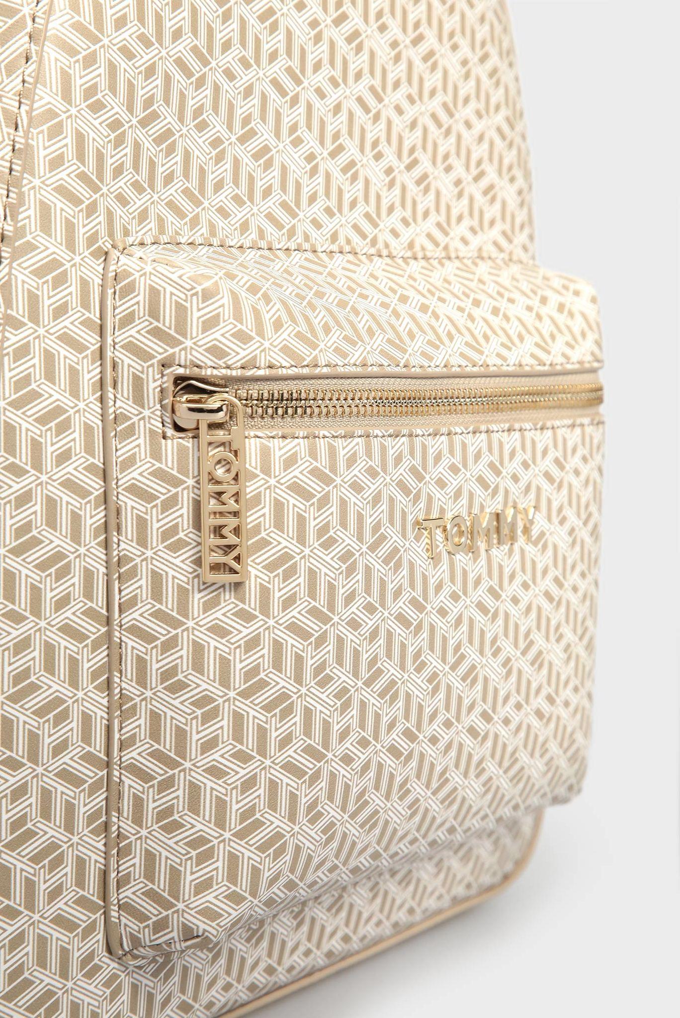 Женский бежевый рюкзак с принтом ICONIC Tommy Hilfiger