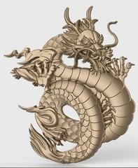 Силиконовый  молд  № 0308  Китайский дракон правый