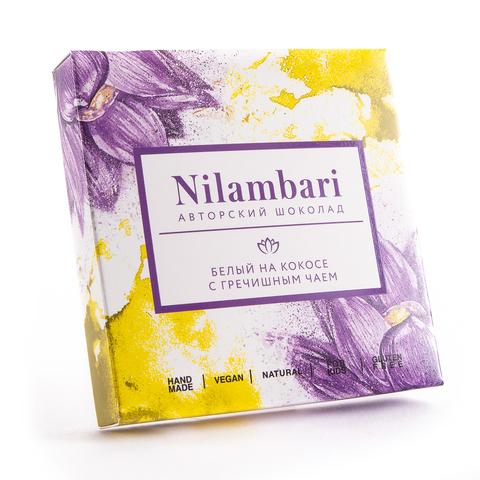 Шоколад Nilambari белый на кокосе с гречишным чаем