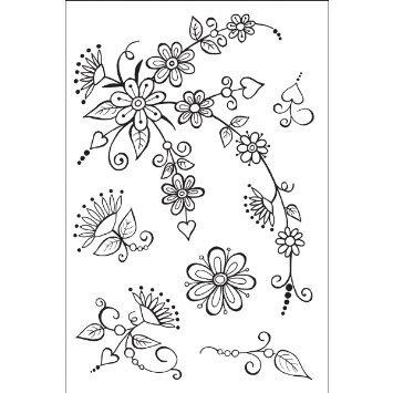 Набор штампов Цветы