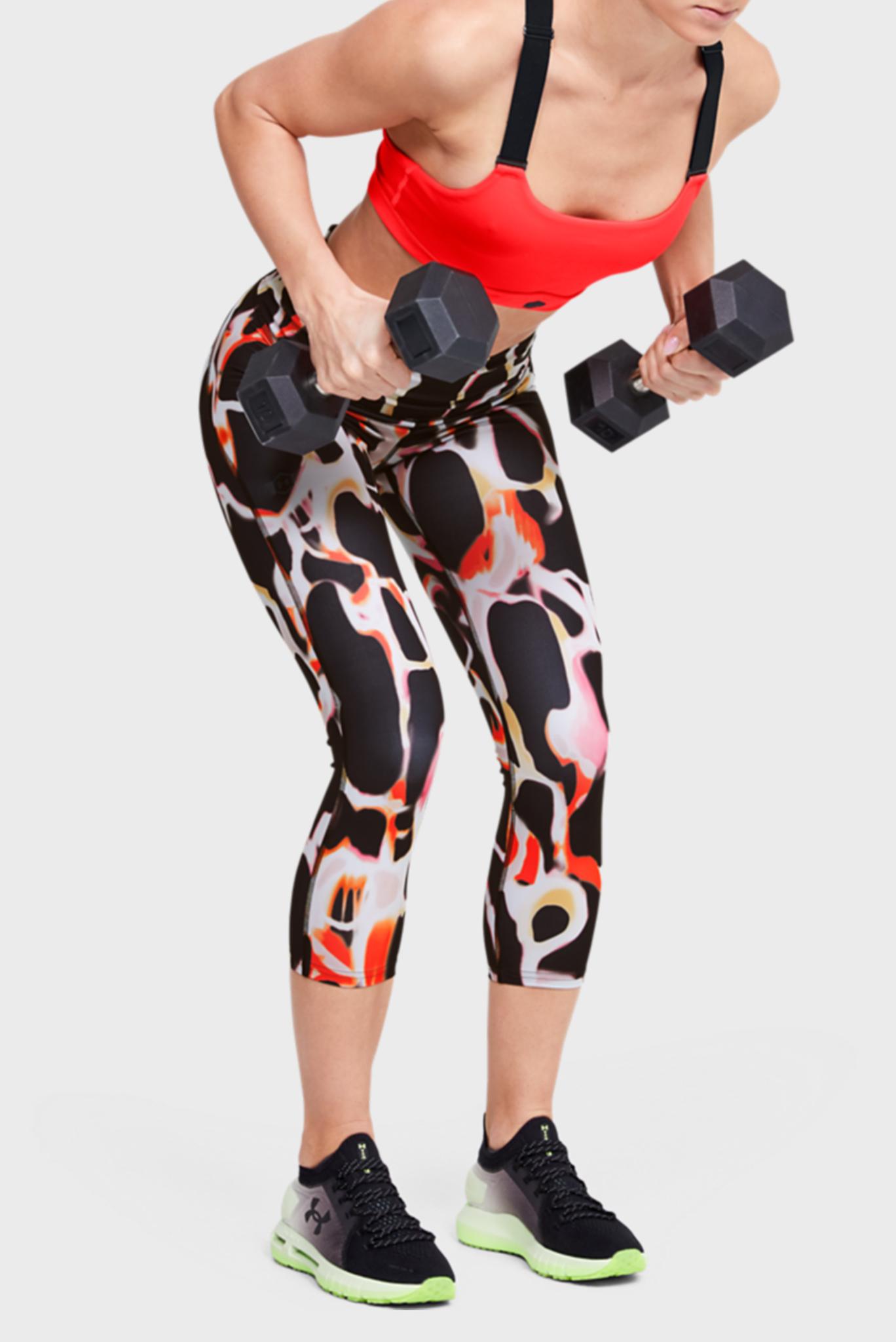 Женские спортивные капри с принтом UA Rush Electric Printed Crop Under Armour