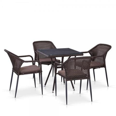 Комплект мебели из иск. ротанга T282BNT/Y35B-W2390 Brown (4+1)