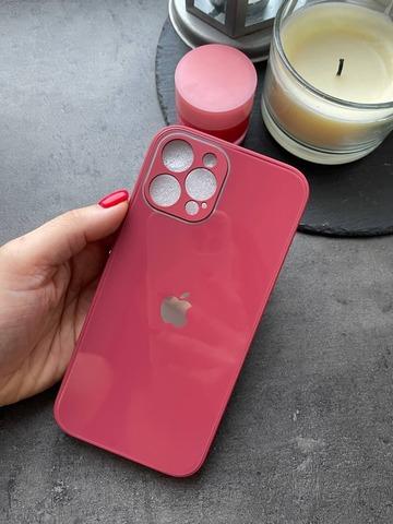 Чехол iPhone 12 /5,4''/ Glass Pastel Full Camera /camellia/