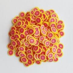 Фимо фрукты для слайма грейпфрут
