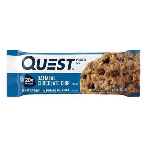 Протеиновые батончики Quest Bar Oatmeal Chocolate Chip (Овсяное печенье с шоколадом), 1 шт
