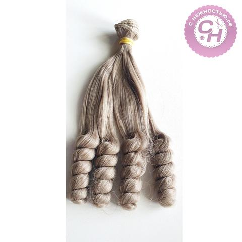Волосы для кукол, трессы локоны-спираль, 15 см*1 метр.