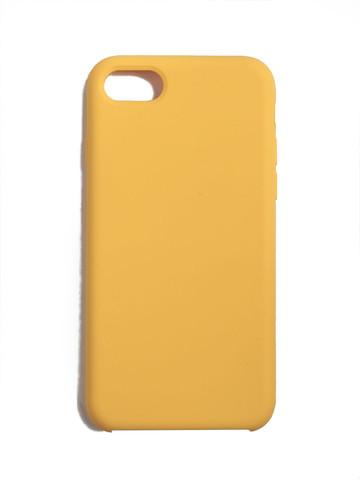 Чехол для iPhone 7/8/SE Софт тач мягкий эффект | микрофибра желтый