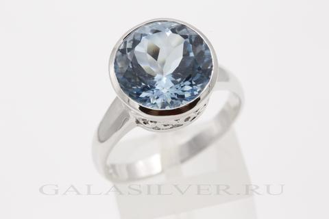 Кольцо с топазом из серебра 925
