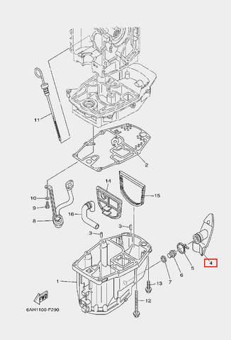 Демпфер для лодочного мотора F20 Sea-PRO (22-4)